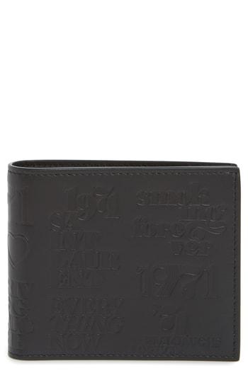 Men's Saint Laurent Stamp Leather Bifold Wallet -