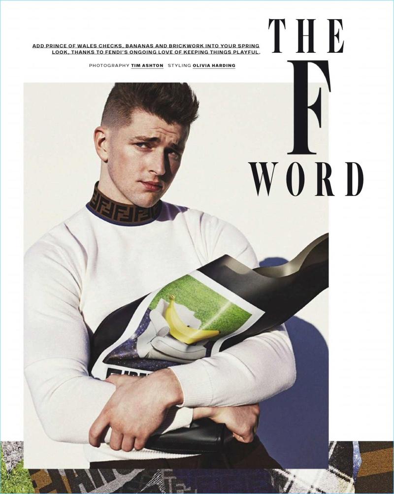 The F Word: Michael Morgan Rocks Fendi for GQ Australia