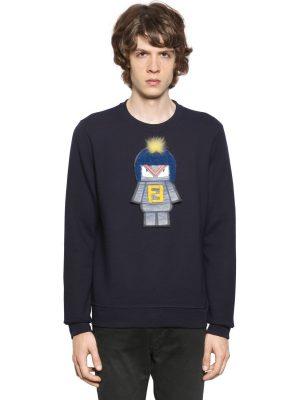 Monster Patch Cotton Sweatshirt