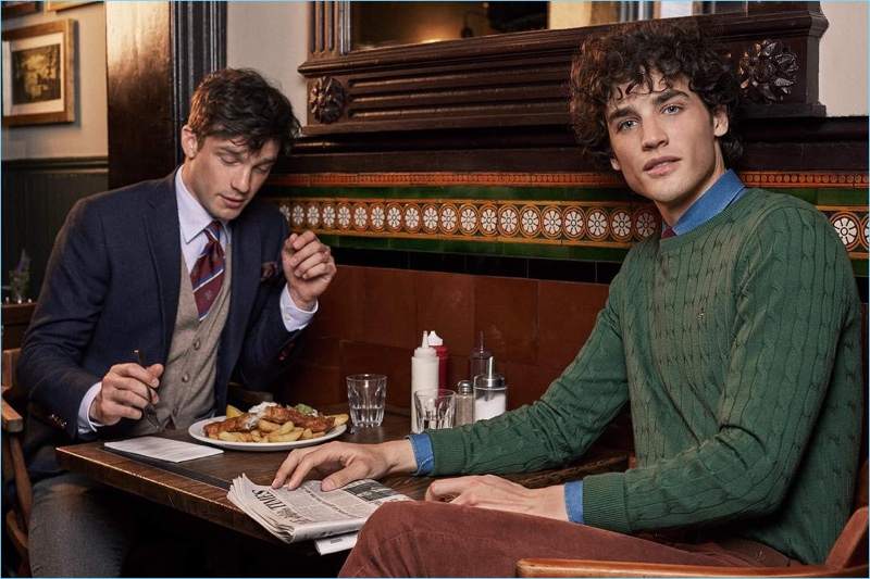 Morris Stockholm enlists Alexis Petit and Federico Novello as the stars of its fall-winter 2018 campaign.