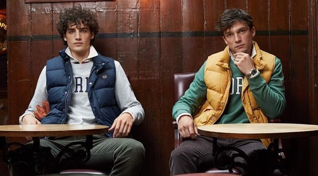 Models Federico Novello and Alexis Petit star in Morris Stockholm's fall-winter 2018 campaign.