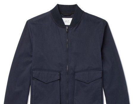 Mr P. - Cotton-Twill Blouson Jacket - Navy