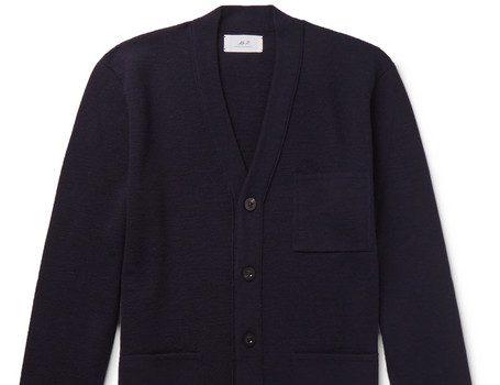 Mr P. - Merino Wool Cardigan - Navy