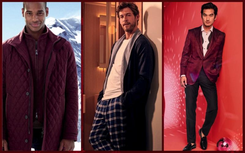 Models Sacha M'Baye, Josh Upshaw, and Tony Chung appear in Neiman Marcus' 2018 Christmas Book.