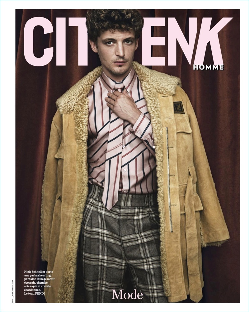 A chic vision, Niels Schneider connects with Citizen K Homme for its latest cover story.