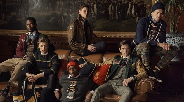 Hamid Onifade, Hugh Laughton-Scott, Oliver Kumbi, Max Snippe, Nate Hill, and Jegor Venned star in POLO Ralph Lauren's fall-winter 2018 campaign.