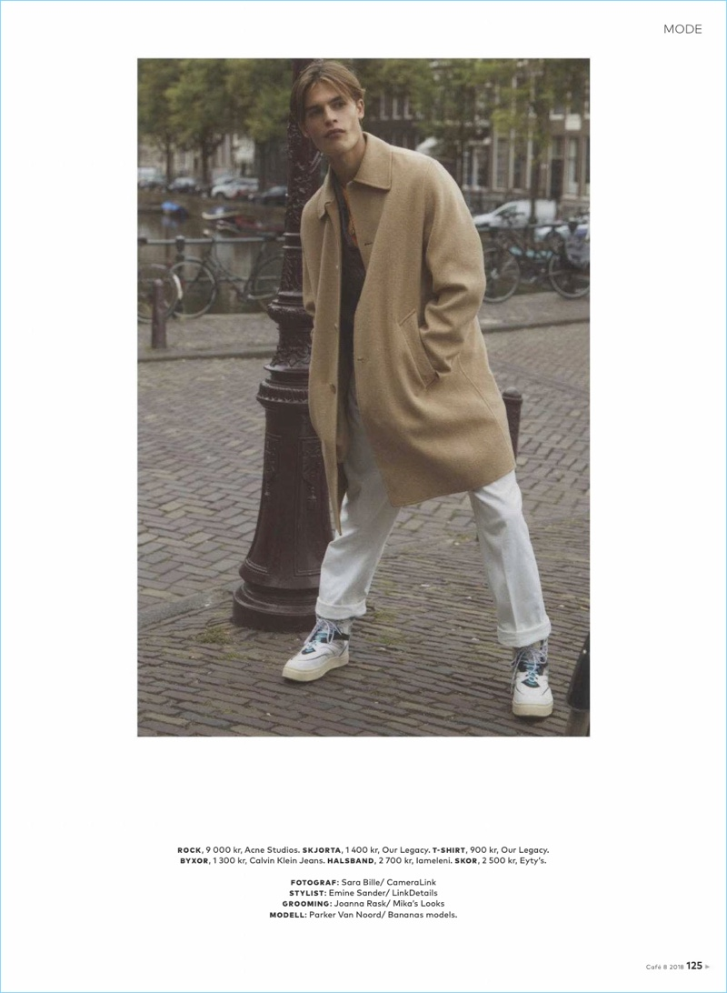 Parker van Noord Sports Relaxed Proportions for Café Magazine