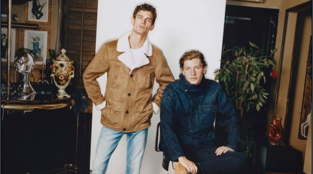 Models Arthur Gosse and Jelle Honing star in Pepe Jeans' fall-winter 2018 campaign.