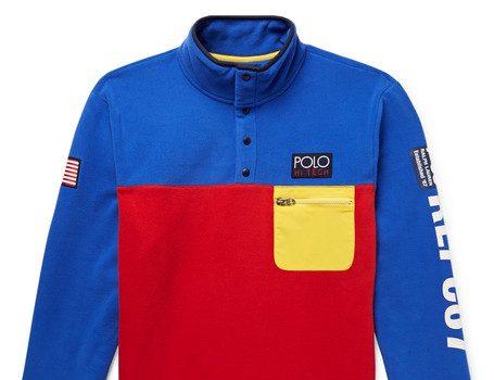 Polo Ralph Lauren - Hi-Tech Logo-Appliquéd Shell-Trimmed Colour-Block Fleece Sweatshirt - Multi