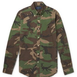 Polo Ralph Lauren - Slim-Fit Button-Down Collar Camouflage-Print Cotton-Oxford Shirt - Green