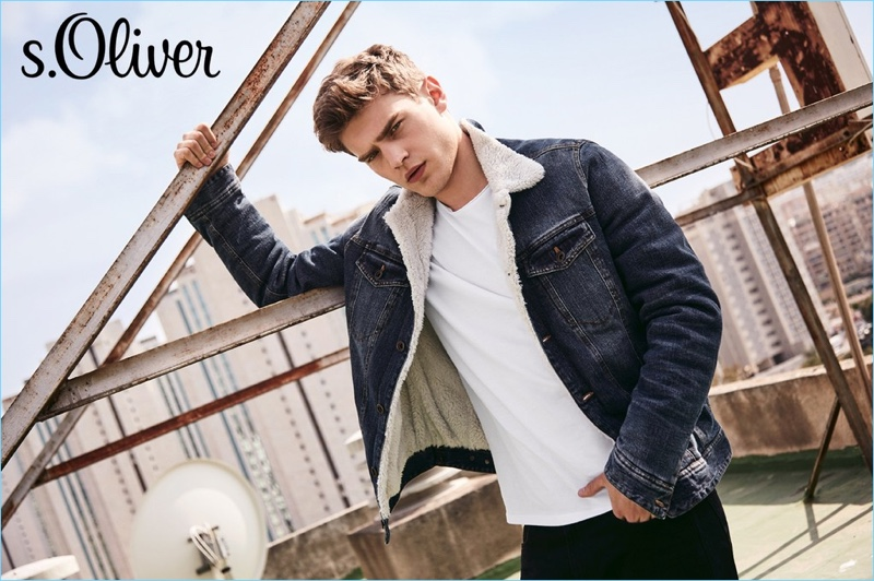Bo Develius fronts Q/S designed by s.Oliver's fall-winter 2018 campaign.