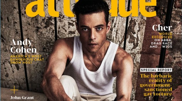 Rami Malek covers the October 2018 issue of Attitude magazine.