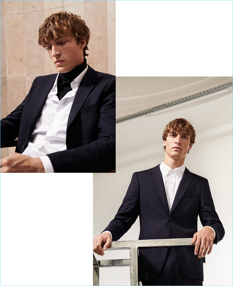 Reserved enlists Tim Dibble to model its fall-winter 2018 premium collection.
