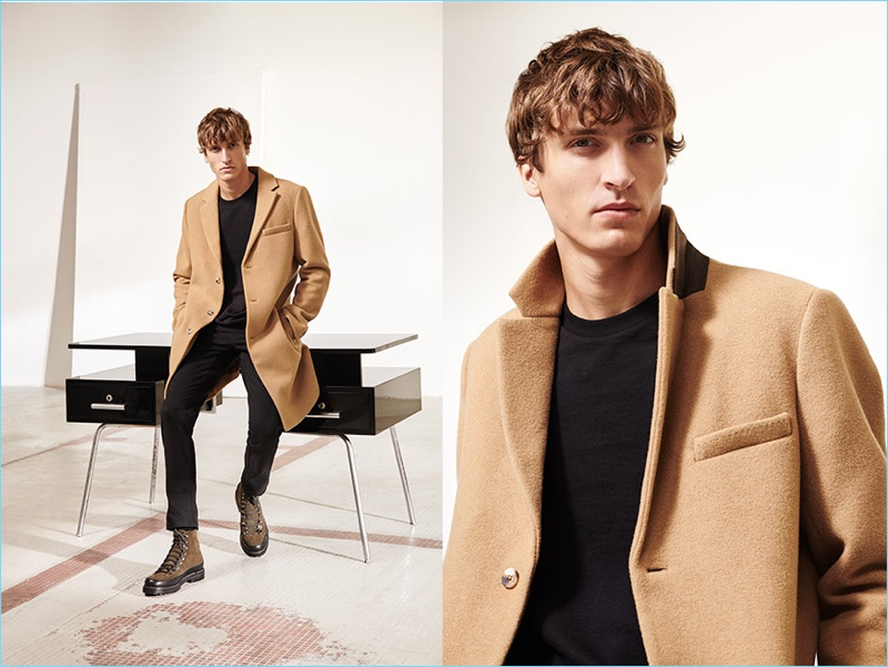 Tim Dibble models a look from Reserved's fall-winter 2018 premium collection.