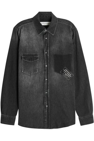 Saint Laurent Army Logo Denim Shirt