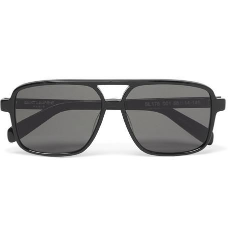 Saint Laurent - Aviator-Style Acetate Sunglasses - Black