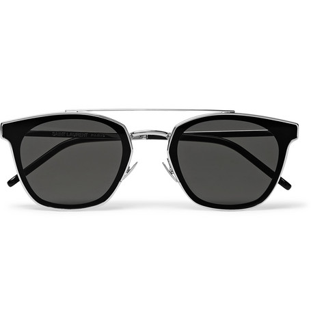 Saint Laurent - Aviator-Style Silver-Tone Sunglasses - Silver
