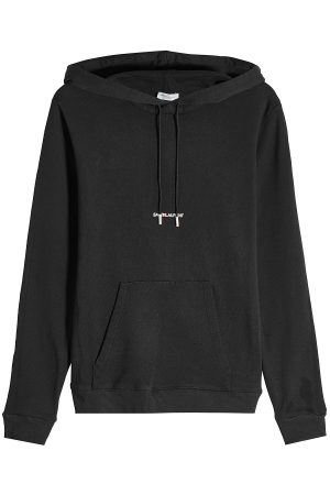 Saint Laurent Logo Cotton Hoody