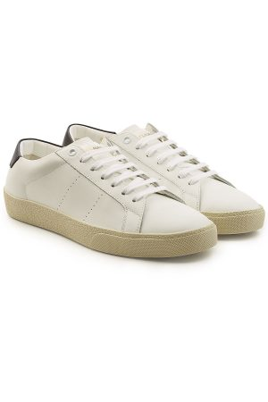 Saint Laurent SL06 Low-Top Leather Sneakers