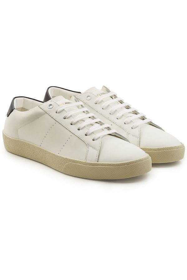 Saint Laurent SL06 Low-Top Leather Sneakers