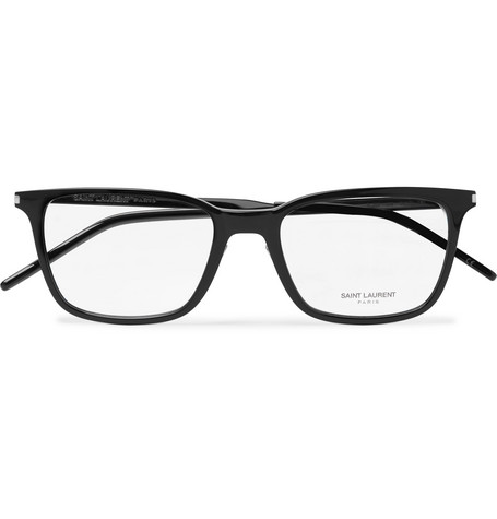 Saint Laurent - Square-Frame Acetate and Silver-Tone Optical Glasses - Black