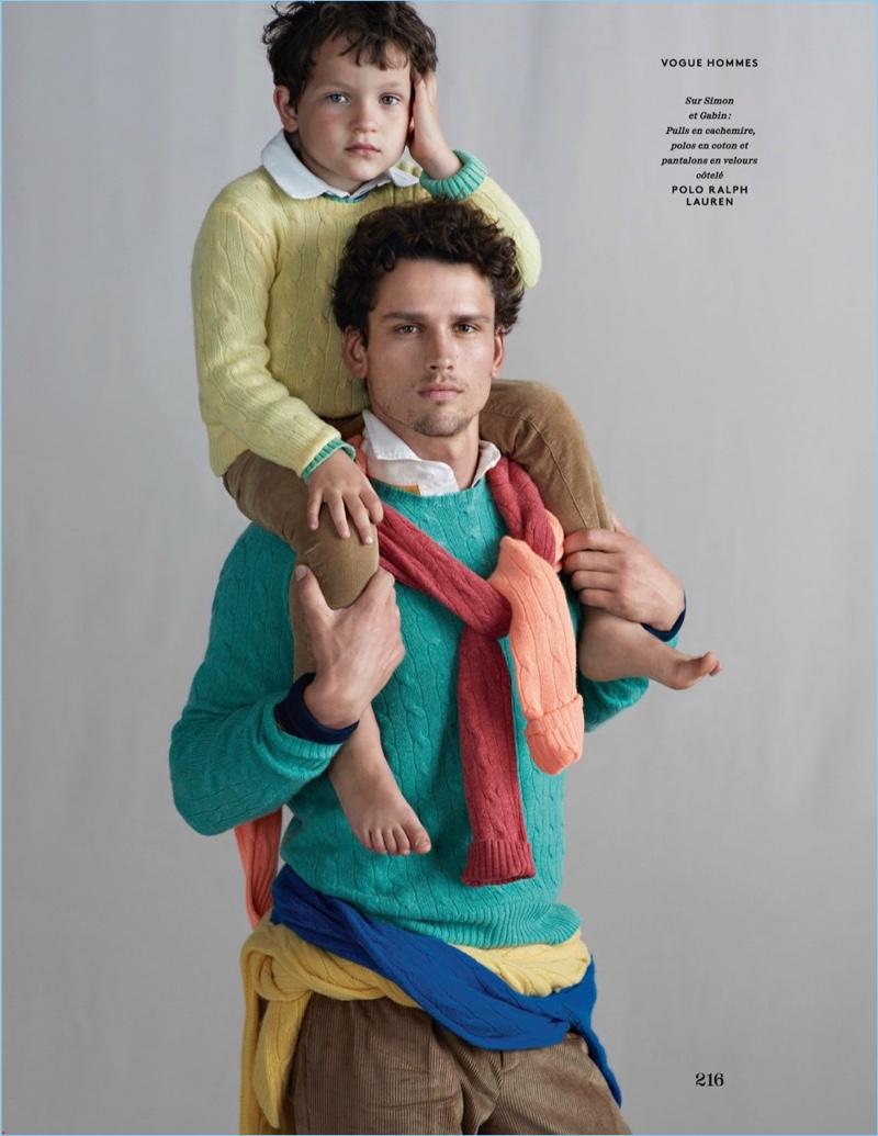 Simon Nessman Dons Ralph Lauren for Vogue Hommes Paris