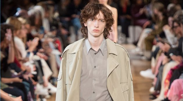 Benno Bulang wears a look from Stella McCartney's spring-summer 2019 men's collection.