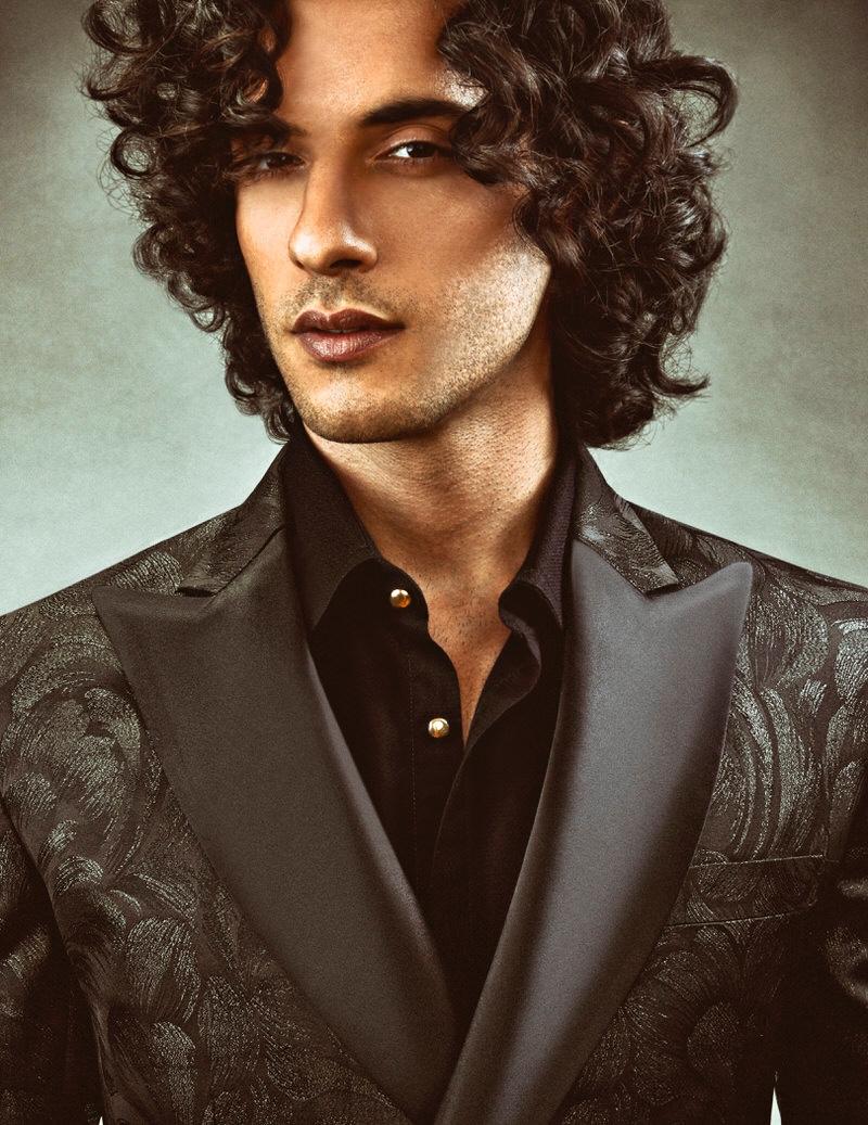 Reza Zohouri wears shirt and jacket Rhowan James.