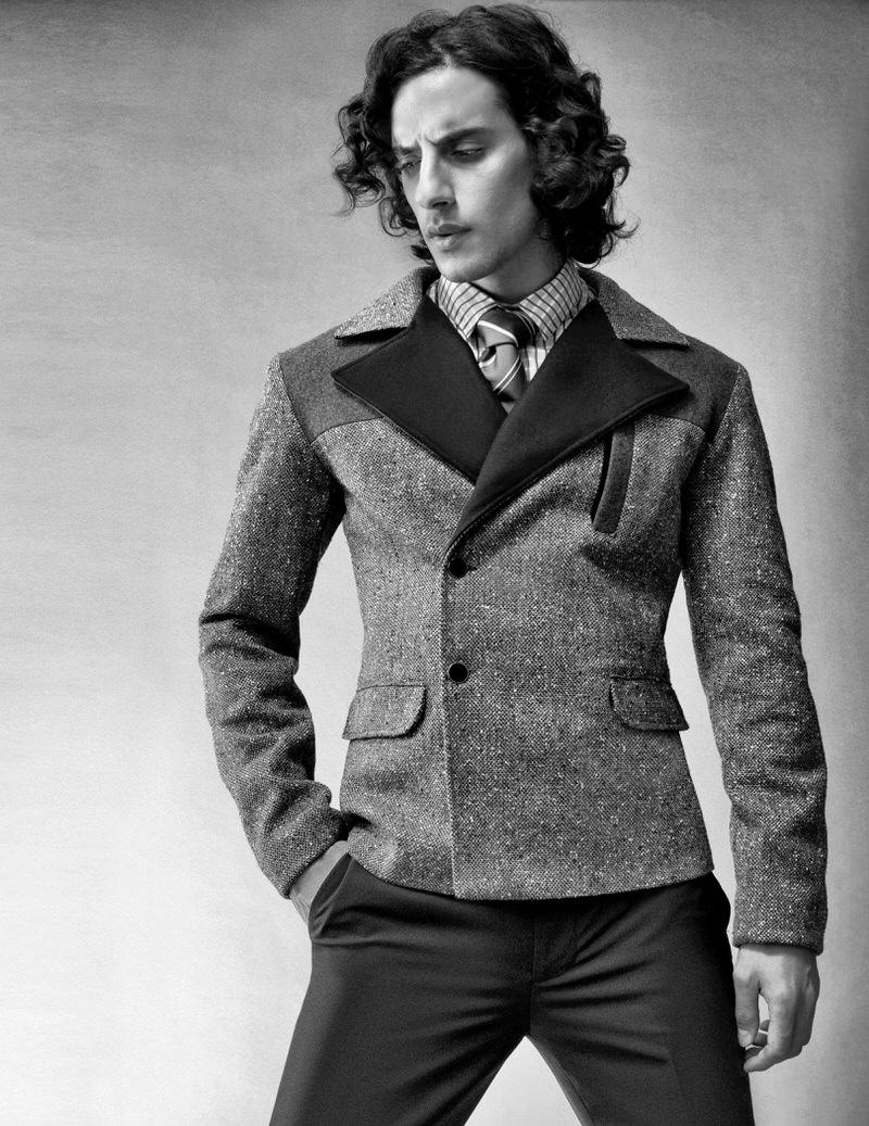 Reza Zohouri wears vintage tie, pants Calvin Klein, shirt and jacket Shelli Oh.