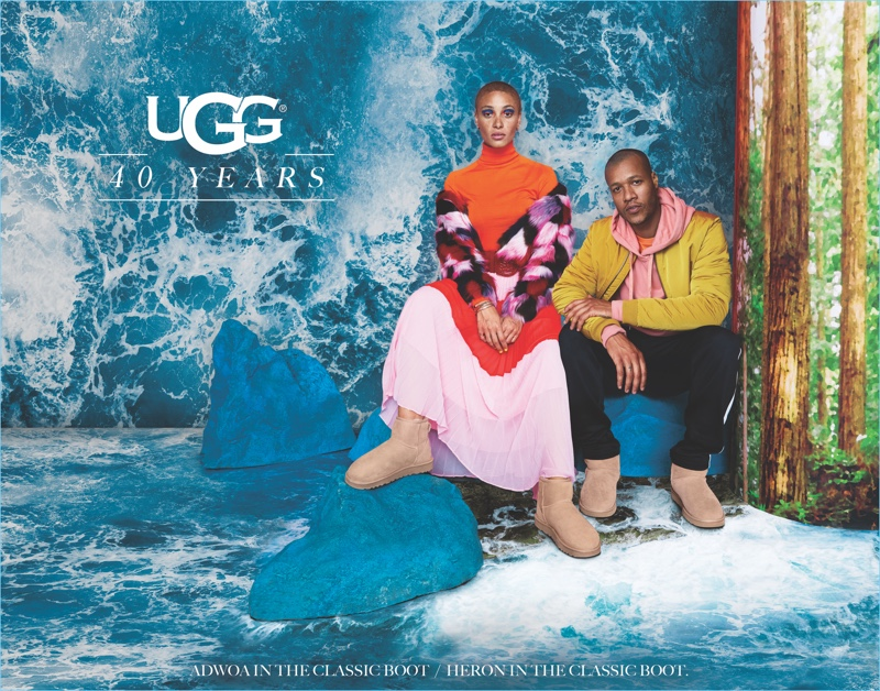 Adwoa Aboah and Heron Preston star in UGG's 40th anniversary campaign.