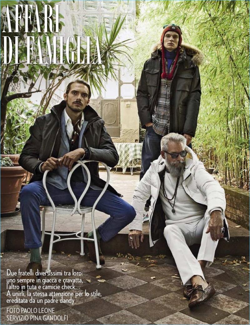 Affari di Famiglia: Bruce Machado, Alfredo Sacchi & Jan Fladenhofer for Vanity Fair Italia