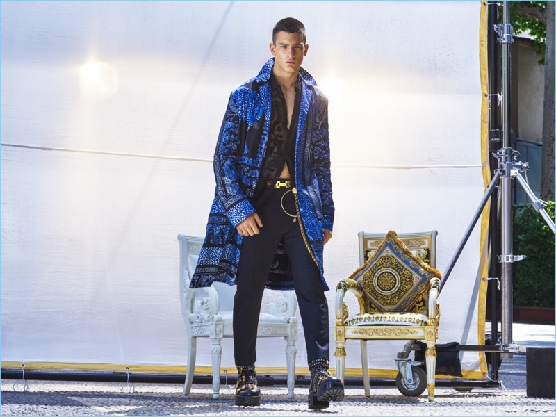 Ljubisa Grujic dons a Versace look for GQ China.