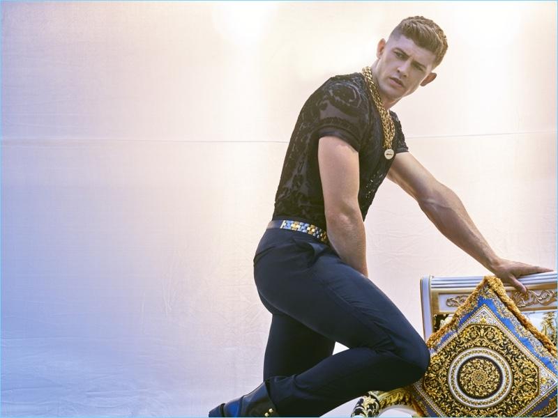 Danny Blake rocks a fall-winter 2018 look by Versace.