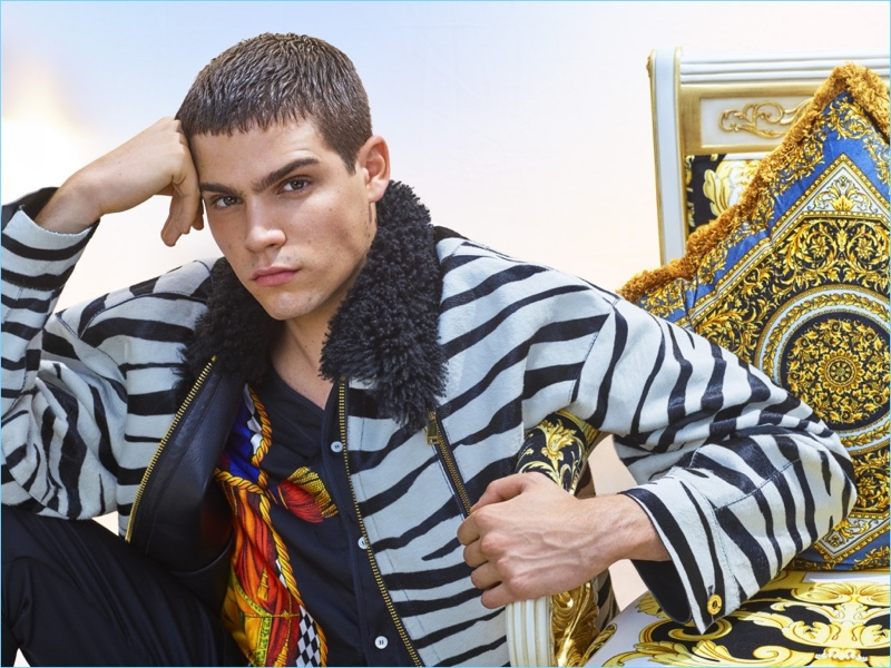 Federico Spinas wears Versace for GQ China.