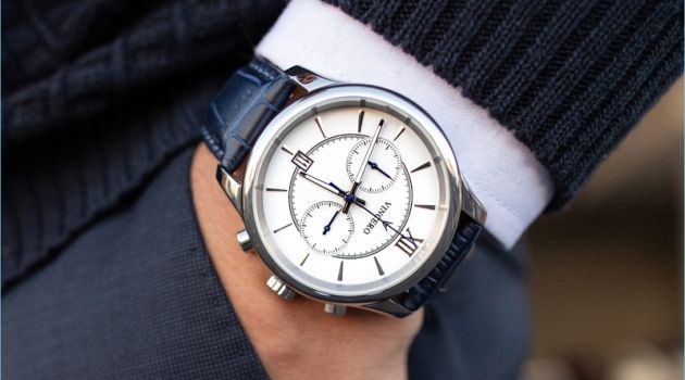 Vincero Silver + White The Bellwether Watch
