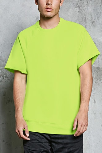 Youth Idols Graphic Tee by 21 MEN Neon Green/white