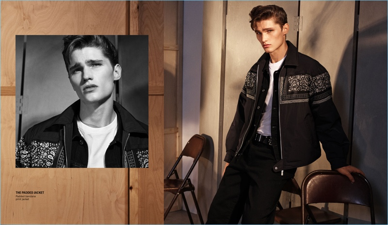 Zara enlists Lukas Marschall as the star of its new campaign for fall-winter 2018.