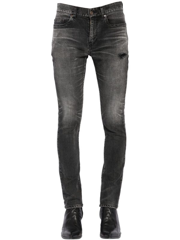 15cm Skinny Cotton Denim Jeans