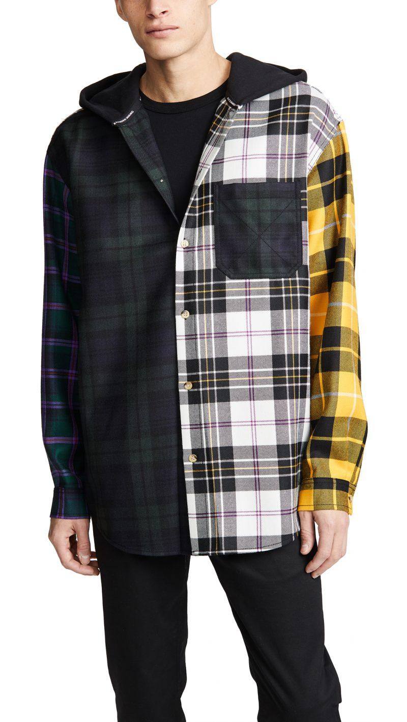 Alexander Wang Multi Plaid Overshirt