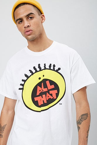 All That Graphic Tee by 21 MEN White/black