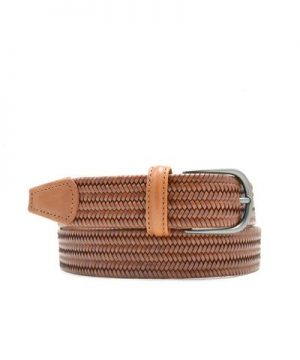 Anderson's Light Brown Woven Leather Belt