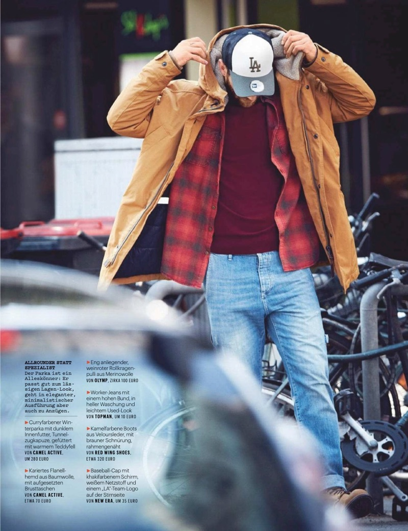André Hamann Covers Men's Health Germany, Dons Rugged Styles Inside