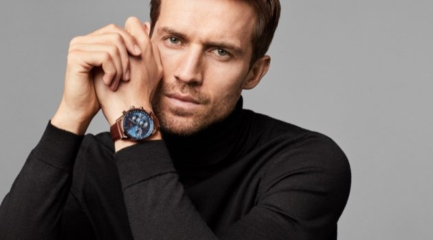 Andrew Cooper stars in BOSS' fall-winter 2018 watches campaign.