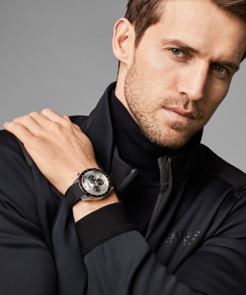 BOSS enlists Andrew Cooper as the star of its fall-winter 2018 watches campaign.
