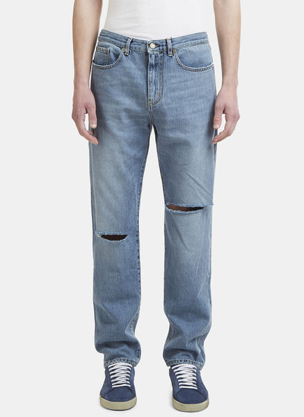 Baggy Two Knee Hole Jeans