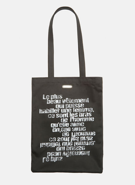 Black Text Tote