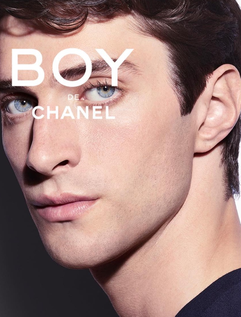 Matthew Bell fronts the Boy De Chanel makeup campaign.