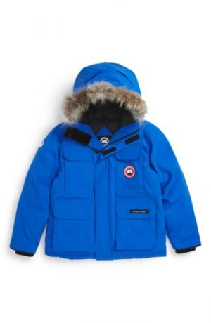 Boy's Canada Goose 'Pbi Expedition' Waterproof Down Parka With Genuine Coyote Fur Trim