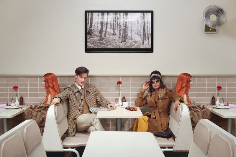 Matt Smith and MIA come together for Burberry's holiday 2018 campaign.