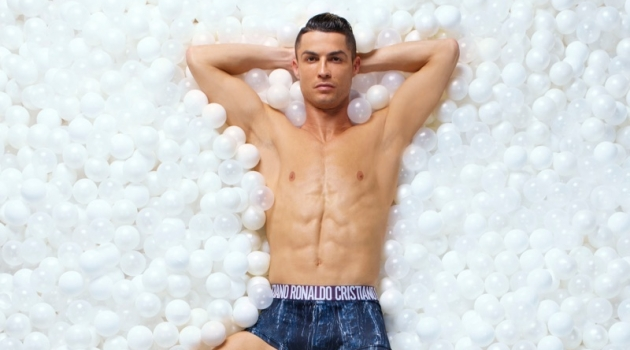 Cristiano Ronaldo fronts the CR7 underwear fall-winter 2018 campaign.
